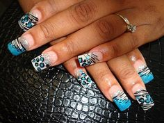 Zebra nail designs and ideas