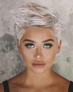 23 Short Spiky Haircuts For Women Short Textured Hair, Edgy Short Hair, Pixie Haircut For Thick Hair, Haircuts For Fine Hair, Short Hair Cuts, Short Hair Styles, Pixie Cuts, Thin Hair, Curly Hair