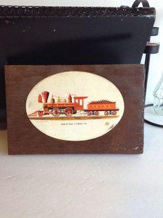 "Vintage RICH SCHLEMMER ""VIRGINIA and TRUCKEE < J.W. BOWKER 1875 Train WoodPlaque"