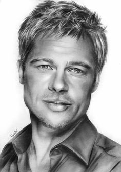 Portrait: Brad Pitt by TayleRX.deviantart.com on @deviantART