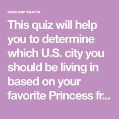Quiz Where Should You Live Based On Your Fave Disney Princess?