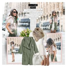 """Attention! Go Army Green"" by bklana ❤ liked on Polyvore featuring Glamorous, Lancaster, Aquazzura, Alexander McQueen, homedecor, Gogreen and bklana"