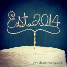 Items similar to Established 2014 Est. Year Wedding or Anniversary Cake Topper on Etsy 30 Year Anniversary, 50th Wedding Anniversary, Anniversary Parties, Wedding Vows, Anniversary Boyfriend, Boyfriend Birthday, Vow Renewal Ceremony, Monogram Cake Toppers, Just In Case