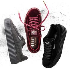 buy online d71f2 ba35f Just in time for the holidays, FENTY PUMA by Rihanna launches a new  collection of The Creeper, this time in velvet. The Velvet Creeper is set  to drop on ...