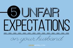 Problems in marriage often start with unreal expectations that husbands and wives have of one another. Unreal expectations become unmet expectations which become unsettling issues in a marriage. So here are five expectations that wives need to realize are hurting their husband and their marriage: #expectations #husband #wife