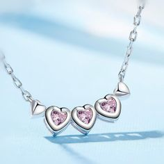 Heart Trendy Sterling Silver Necklace