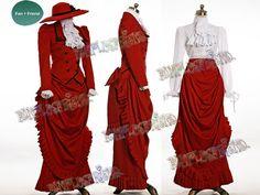 fanplusfriend - Black Butler/Kuroshitsuji Cosplay Angelina Durless (Madam Red) Costume Victorian Tour Outfit, $205.85 (http://www.fanplusfriend.com/black-butler-kuroshitsuji-cosplay-angelina-durless-madam-red-costume-victorian-tour-outfit/)