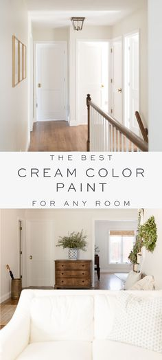 Cream color paint is a warm neutral wall color that fits just about every home and every room. The best cream paint colors for walls – these warm white paint colors are all around easy to use. Interior Wall Colors, Bedroom Wall Colors, Living Room Colors, Home Living Room, Living Room Decor, Cream Living Room Paint, Cream Bedroom Walls, Cream And White Living Room, Cream Wall Paint