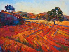 Paso Robles wine country oil painting by California artist Erin Hanson