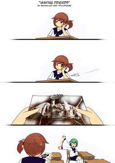 Earth-chan (edit by editor_kuma). Cartoon Girl Drawing, Girl Cartoon, Earth Memes, Pretty Anime Girl, Anime Version, Popular Anime, Manga Comics, Stupid Funny Memes, Funny Cute