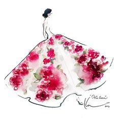 Paper Fashion- Watercolor World of Katie Rodgers Fashion Illustration Sketches, Illustration Mode, Fashion Design Sketches, Watercolor Illustration, Fashion Drawings, Paper Fashion, Fashion Art, Flower Fashion, Fashion Prints