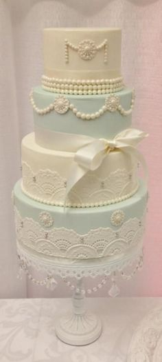 Minus the bow, this is pretty. It looks like they used fondant for the lace and decorations. It's too thick so we should probably use sugar dress.
