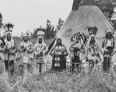 Siksika Black Feet Indians 1910s Vintage 8x10 Reprint Of Old Photo