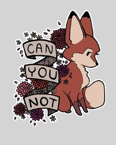 Can you not T-Shirt $11 Rude Fox tee at Unamee today only!