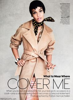Joan Smalls wearing Max Mara coat | Vogue US