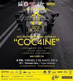 Hoy no se pierdan Festival del V encuentro nacional  de Vespascon DJ´s, #COC4INE Entrada libre 9:00pm Motolinia 33.