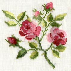 This Pin was discovered by Asi Easy Cross Stitch Patterns, Cross Stitch Bird, Simple Cross Stitch, Cross Stitch Flowers, Cross Stitch Charts, Cross Stitch Designs, Diy Embroidery, Cross Stitch Embroidery, Diy And Crafts