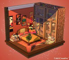 The Sims 4 Pc, Sims Cc, Muebles Sims 4 Cc, Sims 4 Bedroom, Sims 4 House Design, Sims House Plans, Casas The Sims 4, Sims Building, Sims Ideas