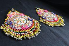 parche bordado india abalorio cuenta etnico por azulcasinegro