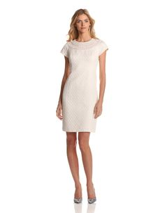 Jones New York Women's Cap Sleeve Texture Dress