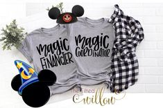 Magic Financier Magic Coordinator Disney Shirt – Mom and Dad Disney Shirt ~ Disney Mom Shirt Tee ~ Disney Trip shirt ~ Disney Matching Magic Financier Magic Coordinator Disney Hemd Mama und Papa Disney World Shirts, Disney Shirts For Family, Family Shirts, Disney Family, Disney Christmas Shirts, Disney Cute, Disney Style, Disney Disney, Disney Moms