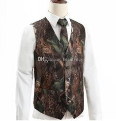 2021 Camo Men Groom Vests For Wedding Hunter Country Style Camouflage Pattern Mens Attire Vest 2 piece set (Vest+Tie) Custom Made Real Image Casual In Stock Groom Vest, Groomsmen Vest, Wedding Vest, Big Wedding Dresses, Wedding Tuxedos, Tuxedo Wedding, Mens Tux, Mens Attire