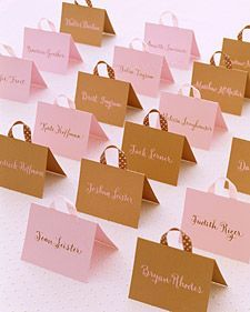 Handbag Seating Cards | Step-by-Step | DIY Craft How To's and Instructions| Martha Stewart