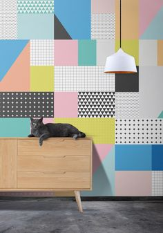Sentiments Wallpaper, Inspirded by Memphis Design Graphic Wallpaper, Of Wallpaper, Designer Wallpaper, Wallpaper Designs, Pattern Wallpaper, Wallpaper Ideas, Unusual Wallpaper, Wallpaper Maker, Perfect Wallpaper