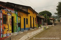 Colorful Homes - Ataco, El Salvador. One of the stops on our tours... incredible weaving and crafts people