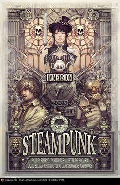 Art nouveau? Steam punk? Love the 'less-color' impression. #immersion http://thevioletvixen.com