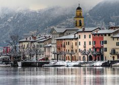LAKE OF LUGANO SWITZERLAND - WINTER VERSION