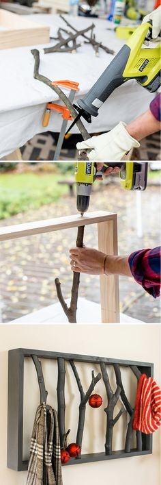 Build cheer and deck the halls with this fun-to-build DIY Branch Shelf. See instructions here. This DIY Branch Shelf is an easy way to decorate with nature and bring the outdoors in. Learn how now.