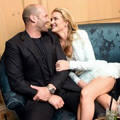 American model Rosie Huntington and American actor Jason Statham Rosie Huntington Whiteley, Rosie Whiteley, Rose Huntington, Rosie And Jason, Jason Statham And Rosie, Jason Statham Rosie Huntington, Jason Stratham, Michelle Dockery, Famous Couples