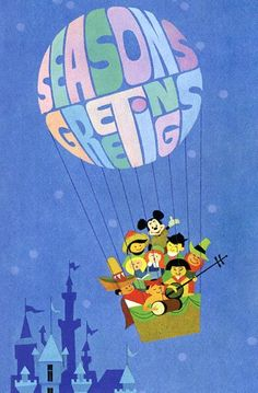 small world christmas card c.1966