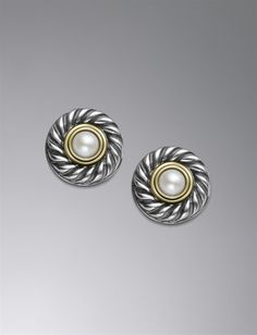 David Yurman studs -my favorite earrings! One of my favorite mother's day gifts.