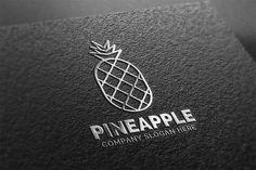 Pineapple Logo by eSSeGraphic on @creativemarket