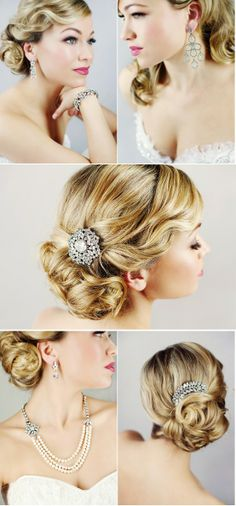 Old Hollywood Glam hair