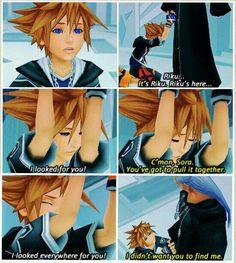 """I dont care you're still Riku to me "" ... Kingdom hearts"