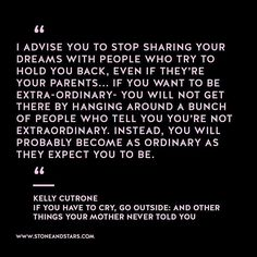 Book of the week 'If you have to cry go outside' by Kelly Cutrone #book #quote #wisdom #inspiration #girlboss