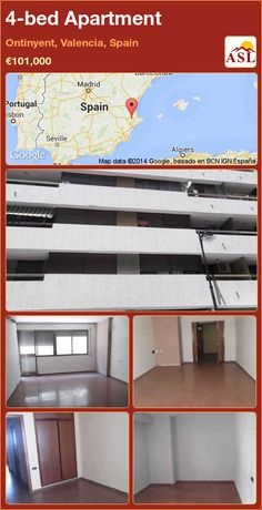 4-bed Apartment in Ontinyent, Valencia, Spain ►€101,000 #PropertyForSaleInSpain