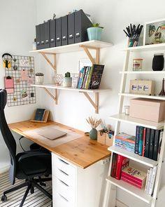 Room Design Bedroom, Room Ideas Bedroom, Home Room Design, Small Room Bedroom, Home Office Design, Home Office Decor, Home Decor, Study Room Decor, Diy Room Decor