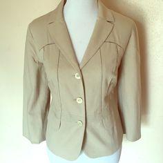 Piazza Sempione blazer 3/4 sleeve blazer cotton spandex blend size IT 50 U.S. 12 Piazza Sempione Jackets & Coats Blazers