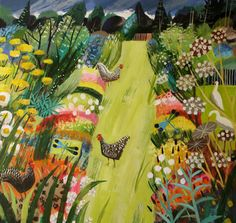 UK ~ Mary Sumner ~ Chickens in the Garden