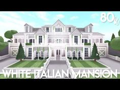 )) 🌸🌴 exterior value: game pass(es): multiple flooring, advanced placement, basement (use a regular floor if you don't have the base. White Mansion, Dream Mansion, Modern Mansion, Mansion Houses, Dream Houses, Modern Family House, Family House Plans, Home Building Design, Building A House