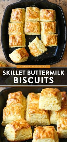 27 reviews · 45 minutes · Vegetarian · Makes 12 biscuits · 6 ingredients are all you need for this easy appetizer recipe! In under 45 minutes, you can bake up these mile-high buttermilk biscuits in a cast iron skillet. So flaky and buttery! Save this bread… Easy Appetizer Recipes, Easter Dinner Recipes, Brunch Recipes, Breakfast Recipes, Best Party Appetizers, Fun Recipes, Brunch Ideas, Other Recipes, Iron Skillet Recipes