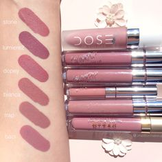 Dusty Rose Swatches