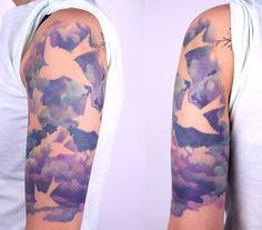 Amanda Wachob. Love the idea of an animal silhouette in a cloud.