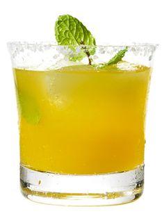 Passion Fruit Mint Margarita Coarse sea or kosher salt 1 lime wedge 8 large fresh mint leaves, torn, plus extra for garnish ¾ oz (1½ Tbsp) fresh lime juice ¼ oz (1½ tsp)...