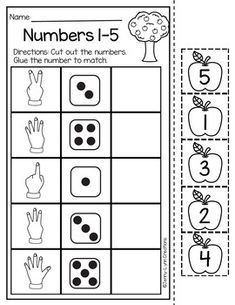 Back to School Math and Literacy Packet - Maternelle Kindergarten Math Activities, Math Literacy, Kindergarten Worksheets, Preschool Activities, Kindergarten Reading, Math Math, Number Worksheets, Alphabet Worksheets, Numbers Preschool