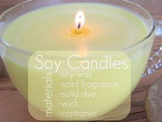 soy candles.
